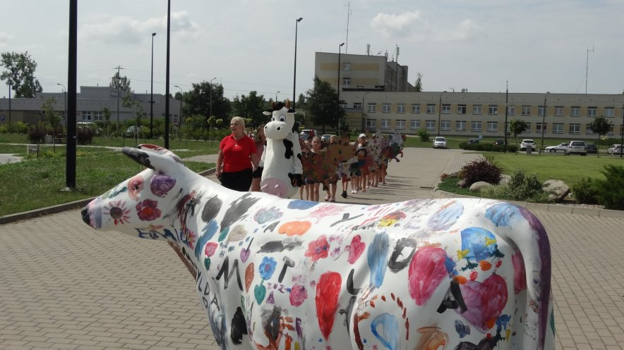 Zdjęcie z Parady Krów w Muzeum Mleka